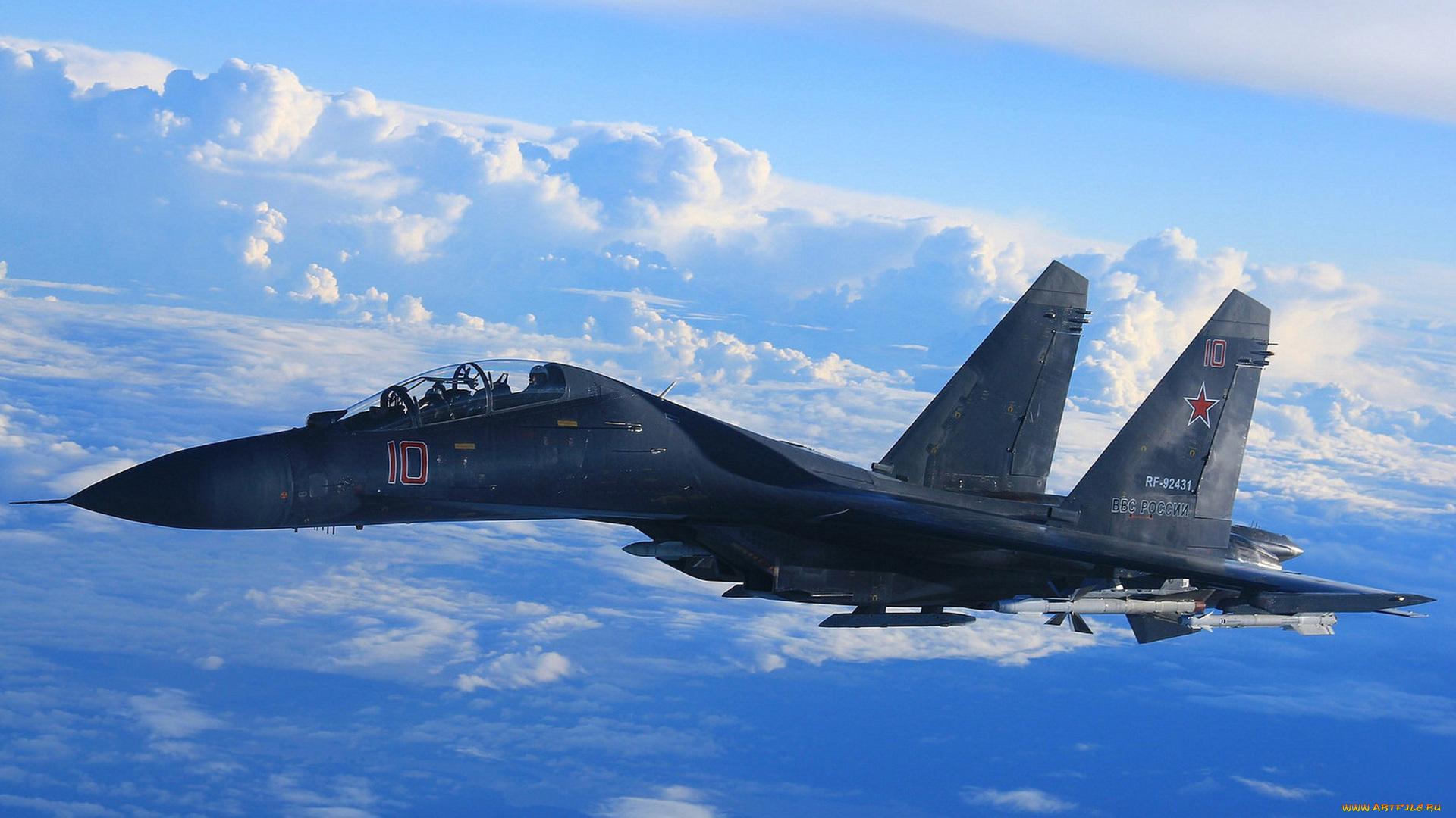Обои Облака, полет, истребители. Авиация foto 18